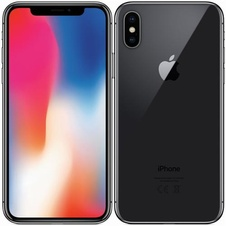 APPLE - iPhone X 64GB Space Gray - repase A+